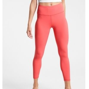 NWOT Athleta Coral Elation 7/8 Leggings